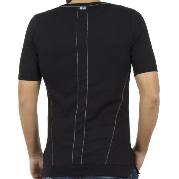 Κοντομάνικη Μπλούζα T-Shirt COVER SAMBA Y0142 Μαύρο
