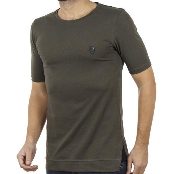 Κοντομάνικη Μπλούζα T-Shirt COVER SAMBA Y0142 Χακί