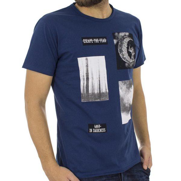 Κοντομάνικη Μπλούζα T-Shirt Cotton4all 18-519 Μπλε