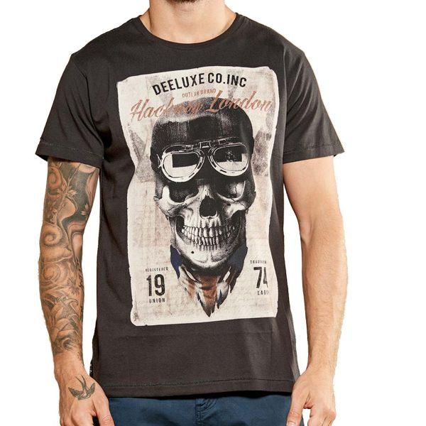 Κοντομάνικη Μπλούζα T-Shirt DEELUXE74 CLEM W18124CHA Ανθρακί