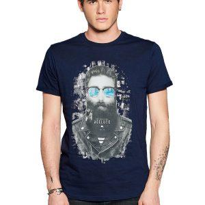 Κοντομάνικη Μπλούζα T-Shirt DEELUXE74 CLYDE W18132MID midnight Indigo