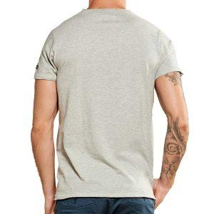 Κοντομάνικη Μπλούζα T-Shirt DEELUXE74 LIONMAN W18135LGM Γκρι