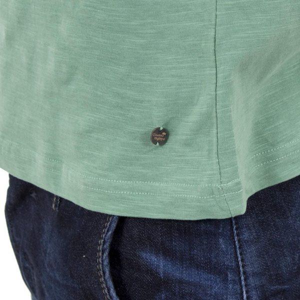Κοντομάνικη Μπλούζα T-Shirt Flama Tee DOUBLE TS-55 ανοιχτό Πράσινο