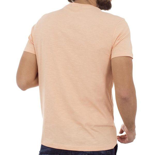 Κοντομάνικη Μπλούζα T-Shirt Flama Tee DOUBLE TS-55 ανοιχτό Ροδακινί