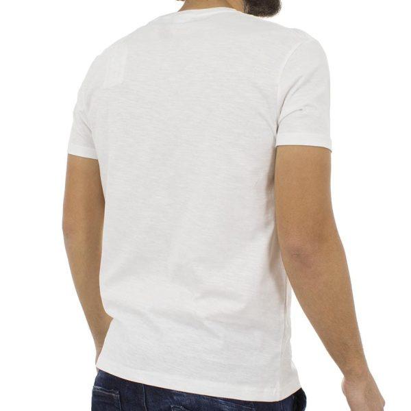 οντομάνικη Μπλούζα T-Shirt Flama Tee DOUBLE TS-55 Λευκό
