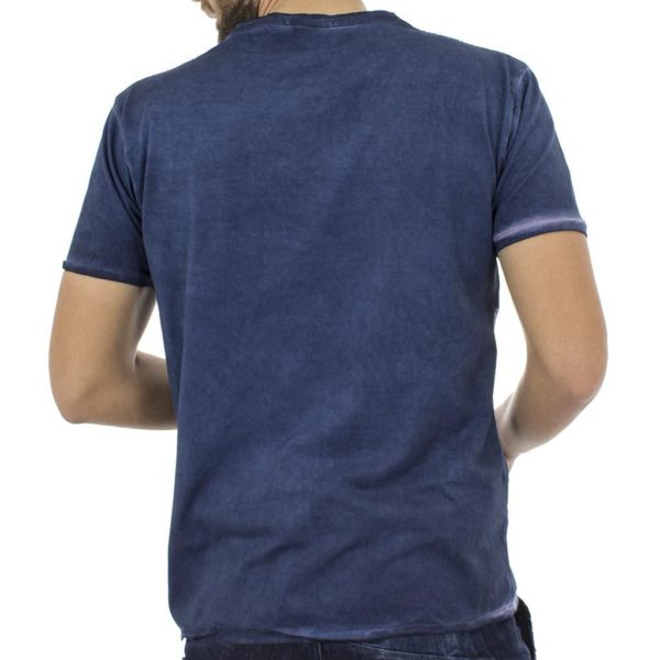 Κοντομάνικη Μπλούζα T-Shirt Jersey Melange Tee DOUBLE TS-52 Indigo