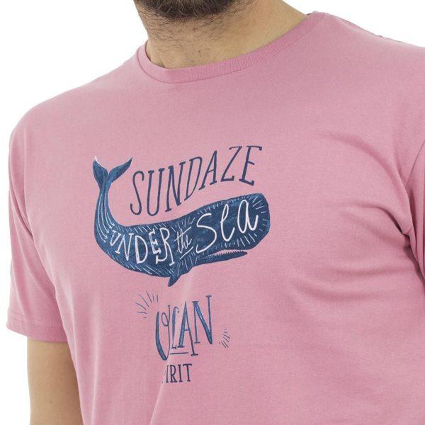 Κοντομάνικη Μπλούζα T-Shirt Jersey Tee DOUBLE TS-53 Ροζ