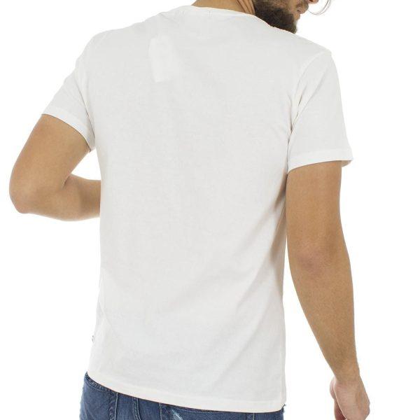 Κοντομάνικη Μπλούζα T-Shirt Jersey Tee DOUBLE TS-53 Λευκό