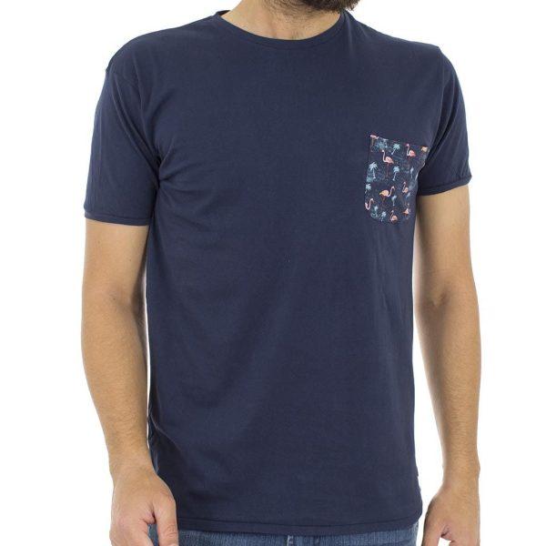 Κοντομάνικη Μπλούζα T-Shirt Jersey Tee DOUBLE TS-56 Navy