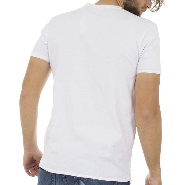 Κοντομάνικη Μπλούζα T-Shirt Jersey Tee DOUBLE TS-56 Λευκό