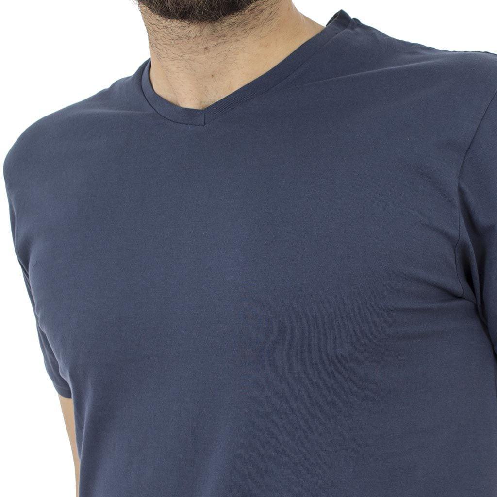 Κοντομάνικη Μπλούζα T-Shirt Jersey Tee DOUBLE TS-61 Indigo