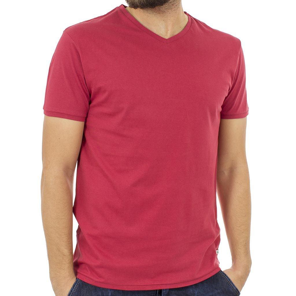 Κοντομάνικη Μπλούζα T-Shirt Jersey Tee DOUBLE TS-61 Κόκκινο
