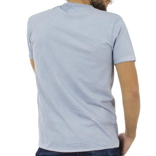 Κοντομάνικη Μπλούζα T-Shirt Jersey Tee DOUBLE TS-67 Γαλάζιο