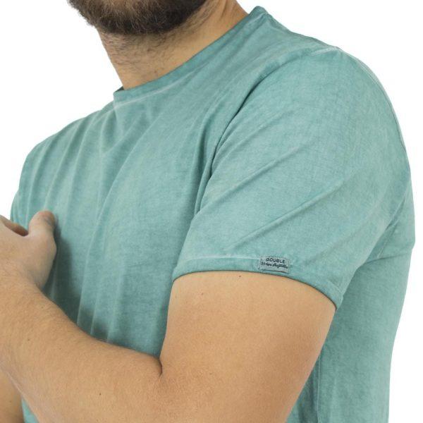 Κοντομάνικη Μπλούζα T-Shirt Jersey Tee DOUBLE TS-67 ανοιχτό Πράσινο