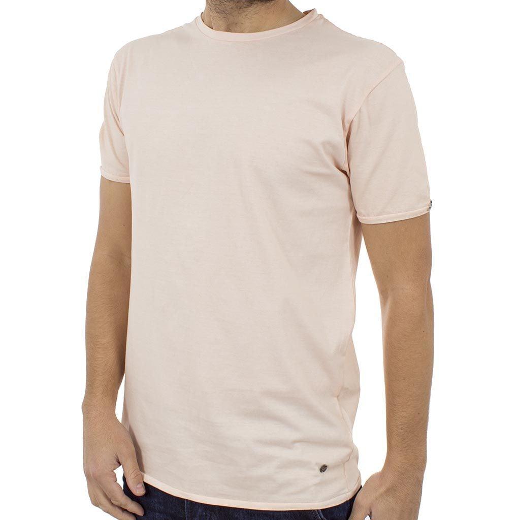 Κοντομάνικη Μπλούζα T-Shirt Jersey Tee DOUBLE TS-67 ανοιχτό Ροζ