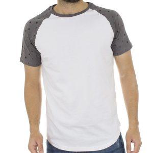 Κοντομάνικη Μπλούζα T-Shirt Reglan Sleeve Jersey Tee DOUBLE TS-65 Λευκό