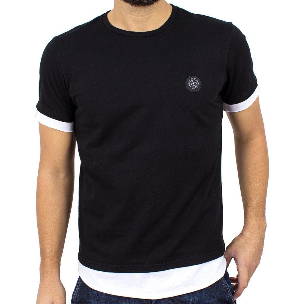 Κοντομάνικη Μπλούζα T-Shirt FREE WAVE 81112 Μαύρο