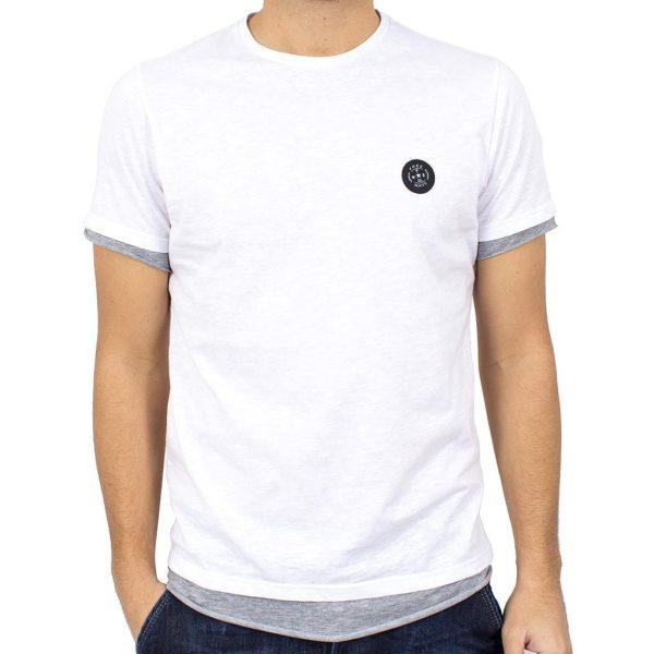 Κοντομάνικη Μπλούζα T-Shirt FREE WAVE 81112 Λευκό