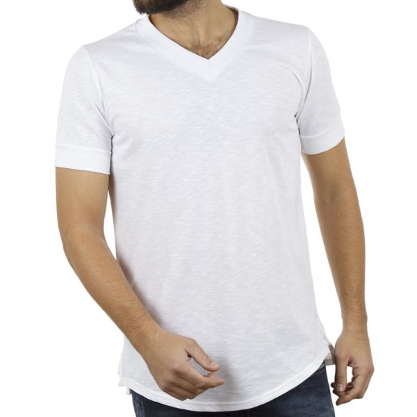T-Shirt με V Λαιμόκοψη FREE WAVE BB GUN 81101 Λευκό