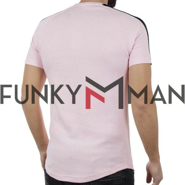Κοντομάνικη Πικέ Μπλούζα Pique T-shirt Free Wave 82108 Ροζ