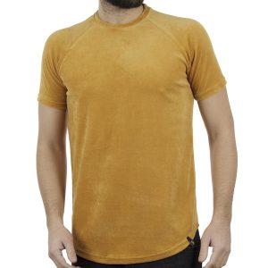 Κοντομάνικη Βελουτέ Μπλούζα T-shirt FREEWAVE 82116 Mustard