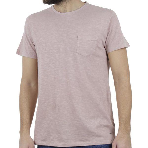 Κοντομάνικη Μπλούζα T-Shirt FUNKY BUDDHA FBM001-04119 Ροζ