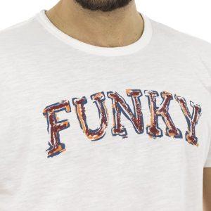 Κοντομάνικη Μπλούζα T-shirt FUNKY BUDDHA FBM023-04118 Λευκό