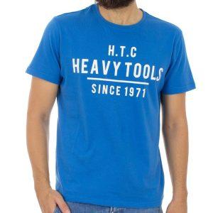 Κοντομάνικη Μπλούζα T-Shirt HEAVY TOOLS MARK Μπλε