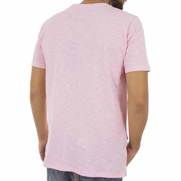 Κοντομάνικη Μπλούζα T-Shirt MESH&CO Asymmetric 02-219-07-31 ανοιχτό Ροζ
