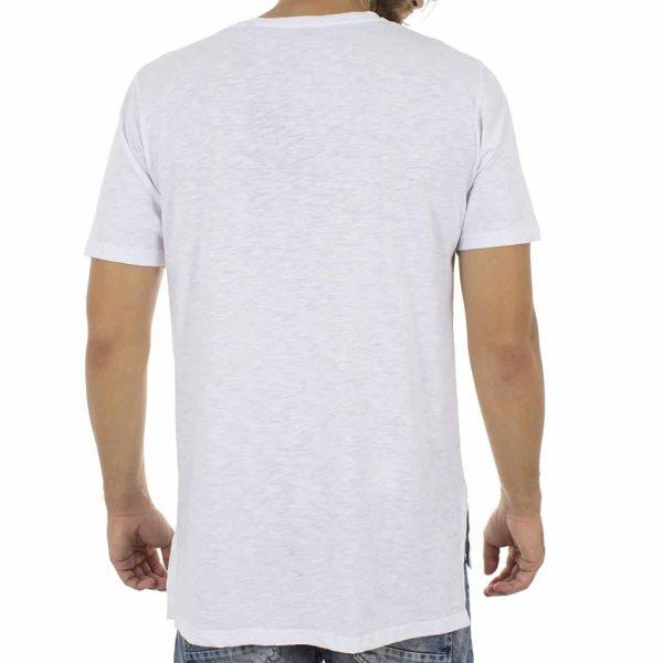 Κοντομάνικη Μπλούζα T-Shirt MESH&CO Grammic Star 01-227 Λευκό