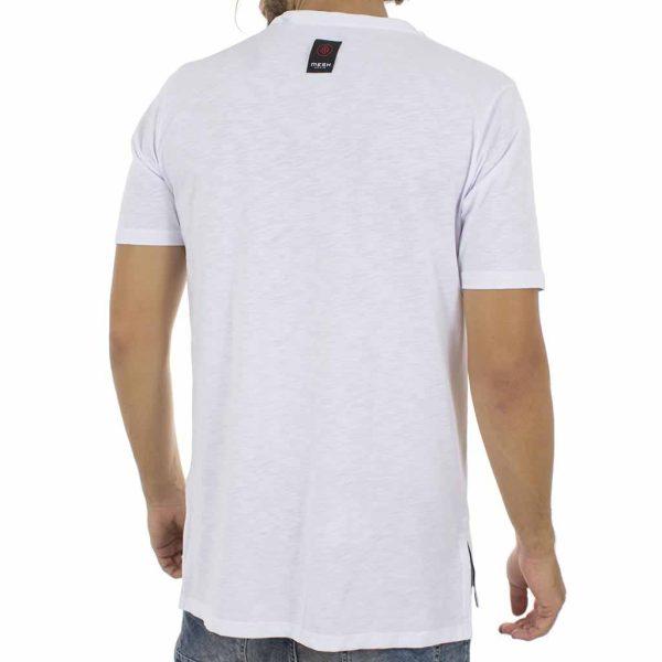 Κοντομάνικη Μπλούζα T-Shirt MESH&CO Mesh Logo 01-218 Λευκό