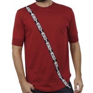 Κοντομάνικη Μπλούζα T-Shirt MESH&CO One Way 01-241 Μπορντό