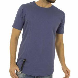Κοντομάνικη Μπλούζα T-Shirt MESH&CO PHILIPPOS 01-225 Μπλε