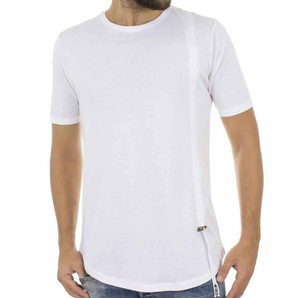 Κοντομάνικη Μπλούζα T-Shirt MESH&CO PHILIPPOS 01-225 Λευκό