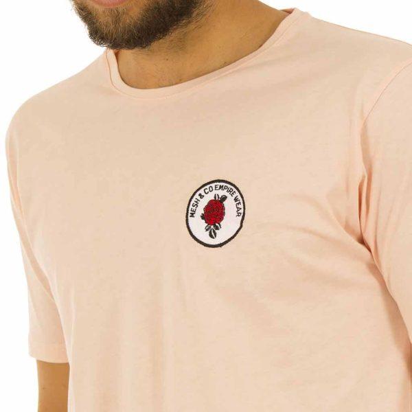 Κοντομάνικη Μπλούζα T-Shirt MESH&CO SELEUKOS 01-227 Εκρού