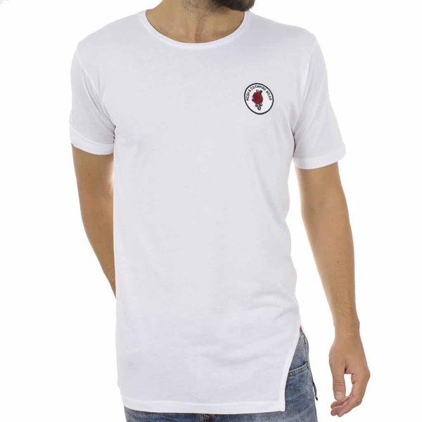 Κοντομάνικη Μπλούζα T-Shirt MESH&CO SELEUKOS 01-227 Λευκό