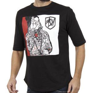 Κοντομάνικη Μπλούζα T-Shirt MESH&CO Tattoo Boy 01-244 Μαύρο