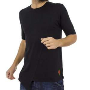 Κοντομάνικη Μπλούζα T-Shirt MESH&CO 01-223 Μαύρο