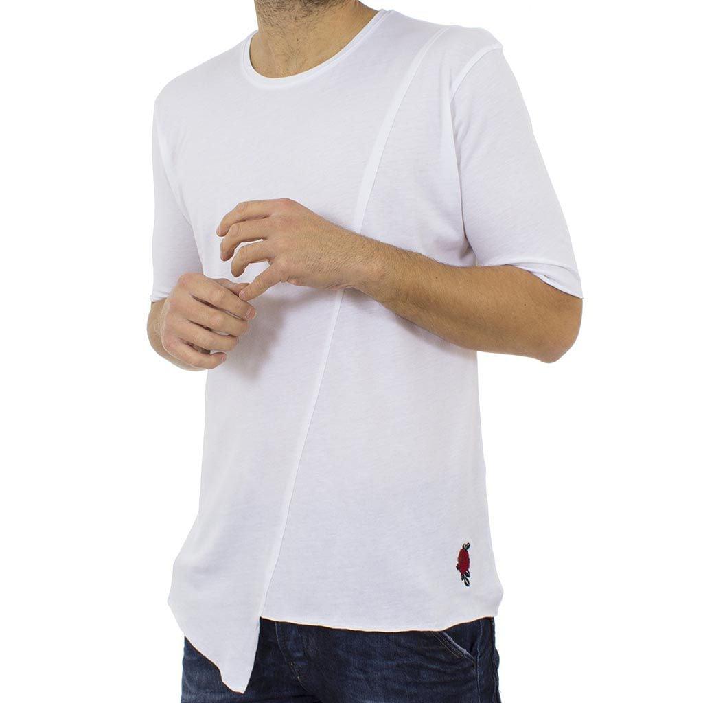 Κοντομάνικη Μπλούζα T-Shirt MESH&CO 01-223 Λευκό