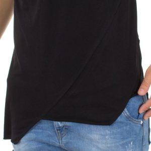 Κοντομάνικη Μπλούζα T-Shirt MESH&CO ADMITOS 01-226 Μαύρο