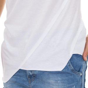 Κοντομάνικη Μπλούζα T-Shirt MESH&CO ADMITOS 01-226 Λευκό