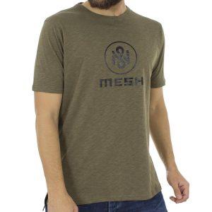 Κοντομάνικη Μπλούζα T-Shirt MESH&CO Mesh Logo 0210 Χακί