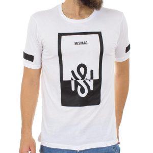Κοντομάνικη Μπλούζα T-Shirt MESH&CO NEARCHOS 01-228 Λευκό