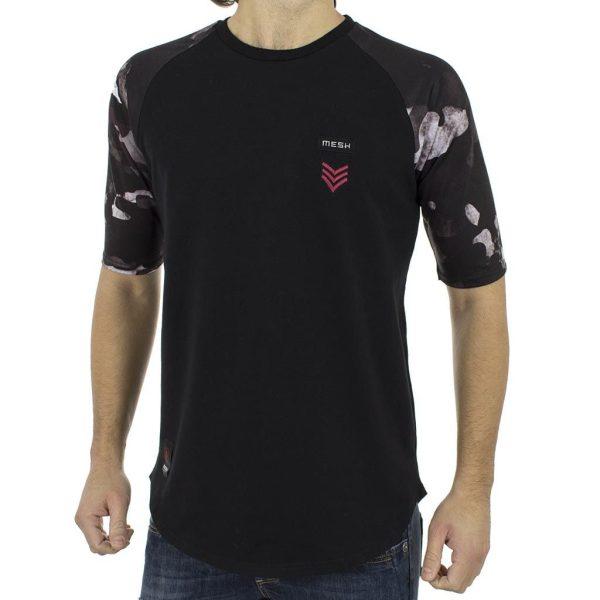 Κοντομάνικη Μπλούζα T-Shirt MESH&CO Patch Sergeant 05-221 Μαύρο