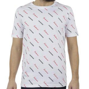 Κοντομάνικο All Over Print T-Shirt PONTEROSSO 19-1020 ALLOVER Λευκό