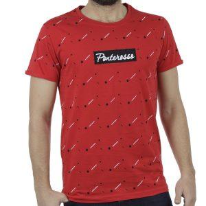 Κοντομάνικο All Over Print T-Shirt PONTEROSSO 19-1021 DOTS Κόκκινο