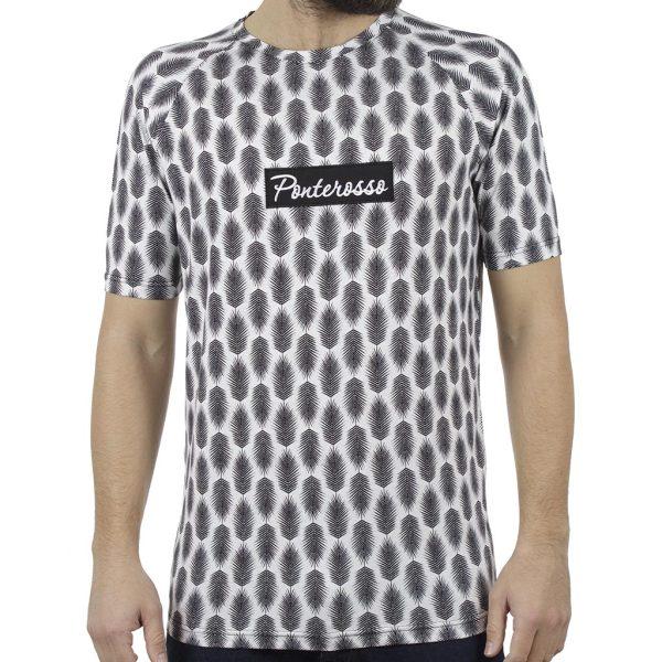 Κοντομάνικο All Over Print T-Shirt PONTEROSSO 19-1026 PLUMED Μαύρο