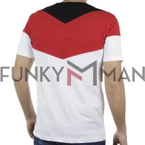 Κοντομάνικη Μπλούζα T-Shirt PONTEROSSO 19-1030 CORNER Κόκκινο