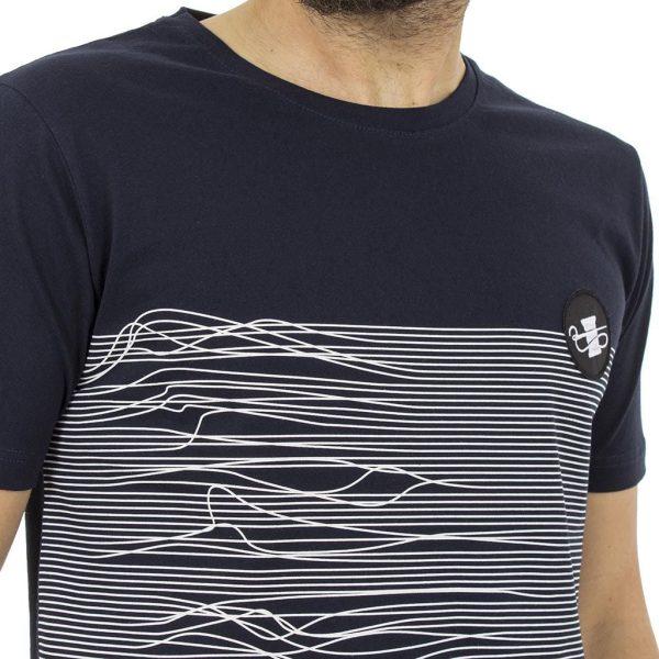 Κοντομάνικη Μπλούζα T-Shirt Ponte Rosso 18-1143 Navy