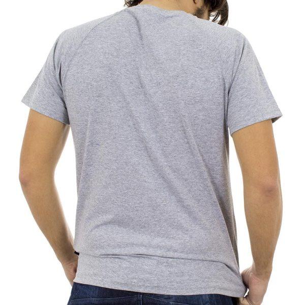 Κοντομάνικη Μπλούζα T-shirt SANTANA SS18-1-57 ανοιχτό Γκρι
